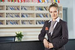 Hotel manager on reception Stock Photos