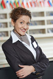 Hotel manager on reception Stock Image