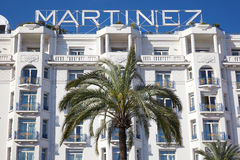 Hotel Martinez facade in Cannes Royalty Free Stock Photos