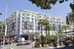 Hotel Martinez Grand Hyatt s Cannes Stockbild