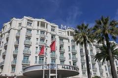 Hotel Martinez Grand Hyatt s Cannes in Cannes beim Croisette Lizenzfreies Stockfoto