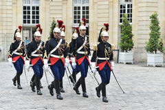 Hotel Matignon Republican Guards of honor Stock Photo