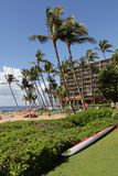 Hotel on Maui Beach Stock Image