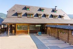 The hotel Mechavnik in Drvengrad Kusturica, Serbia royalty free stock image