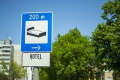 Hotel 200 metres Stock Image