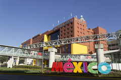Hotel in Mexico City. Infrastructure around the airport of Mexico City Royalty Free Stock Photos