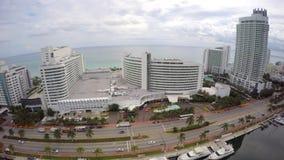 Hotel Miami Beach 4k aéreo de Fontainebleau metrajes