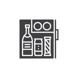 Hotel mini fridge bar icon vector, filled flat sign, solid pictogram isolated on white Stock Photos