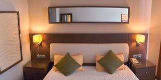 Hotel moderno di lusso della stanza di stile Fotografia Stock