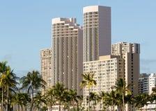 Hotel moderno en Waikiki Hawaii imagen de archivo