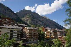 hotel in montagne Fotografie Stock