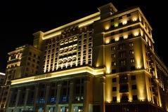 Hotel Moscou de quatro estações na noite Imagem de Stock