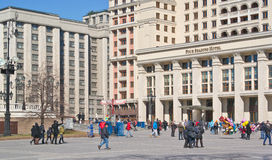 Hotel Moscow and the State Duma Royalty Free Stock Photography
