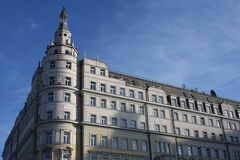 Hotel Moskva. The building of the hotel in Moscow Stock Photos