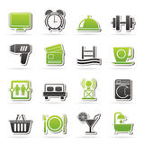 Hotel and Motel facilities icons Stock Photography