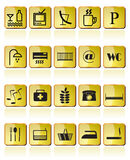 Hotel and Motel  Icon. Hotel and Motel Icons - Vector Icon Set Royalty Free Stock Photography