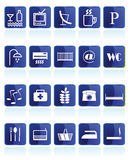 Hotel and Motel  Icon. Hotel and Motel Icons - vector icon set Royalty Free Stock Photo