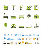 Hotel and motel icons. Vector icon Set Stock Images