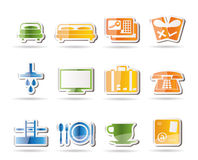 Hotel and motel icons Royalty Free Stock Image
