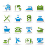 Hotel and motel icons. Vector icon Set Royalty Free Stock Photography