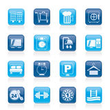 Hotel and motel icons Royalty Free Stock Photography