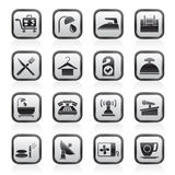Hotel and motel icons. Vector icon Set Stock Photo