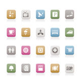 Hotel and Motel objects icons. Icon sets Royalty Free Stock Image