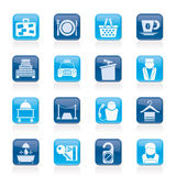 Hotel and motel services icons. Vector icon set Stock Photo