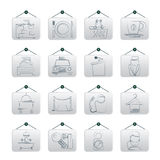 Hotel and motel services icons Royalty Free Stock Photo