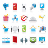 Hotel and motel services icons 2. Vector icon set Stock Photography