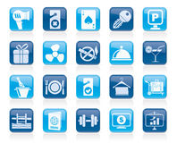 Hotel and motel services icons 2 Stock Photography