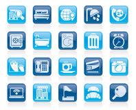 Hotel and motel services icons Stock Photos