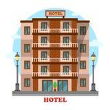 Hotel or motel,skyscraper hostel building exterior Royalty Free Stock Photos