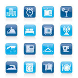 Hotel, motel and travel icons. Vector icon set Stock Image
