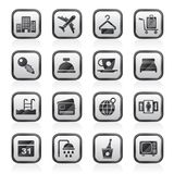 Hotel, motel and travel icons vector illustration