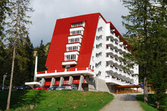 Hotel in mountain Stock Photos