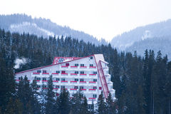 Hotel on mountain Stock Photography