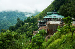 Hotel on the mountain. This image was taken in Ella, Sri Lanka Royalty Free Stock Images