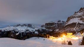 Hotel on the mountain near Canazei Stock Photo