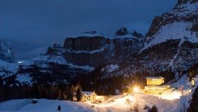 Hotel on the mountain near Canazei Stock Photography
