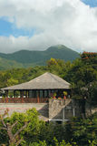 Hotel in mountains.  Burma. Stock Image