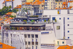 Hotel Mundial in Lisbon Stock Photo