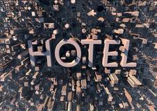 Hotel na cidade Imagem de Stock