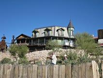 Hotel na cidade fantasma da mina da jazida de ouro, o Arizona fotografia de stock