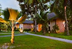 Hotel na ilha tropical - Seychelles Imagem de Stock Royalty Free