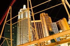 Hotel na noite em Las Vegas Imagem de Stock