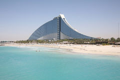 hotel na plaży jumeirah Zdjęcie Royalty Free