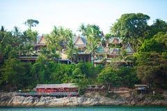 Hotel na tropikalnym wybrzeżu Obrazy Royalty Free