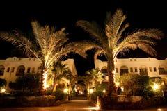Hotel nachts Stockfoto