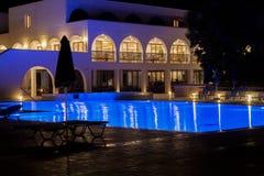 Hotel nachts Lizenzfreies Stockfoto